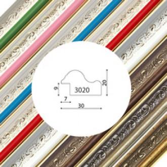 Пластиковый багет серия 3020
